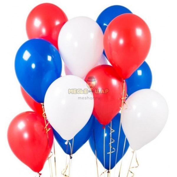 100 шаров Триколор к 9 мая