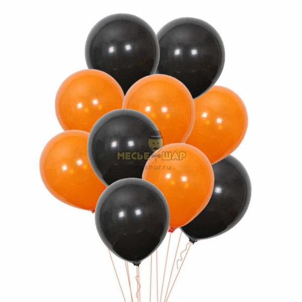 100 шаров Черный и Оранжевый