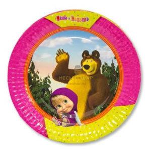 Тарелка бум Маша и Медведь 23см 6шт