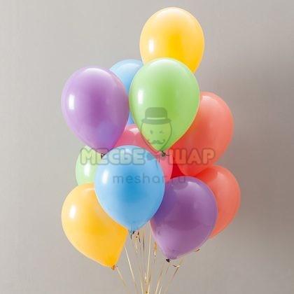 30 шаров с гелием пастель