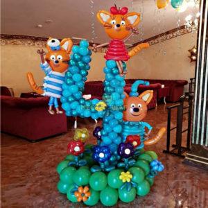 Цифра из шаров Три кота 1.5м