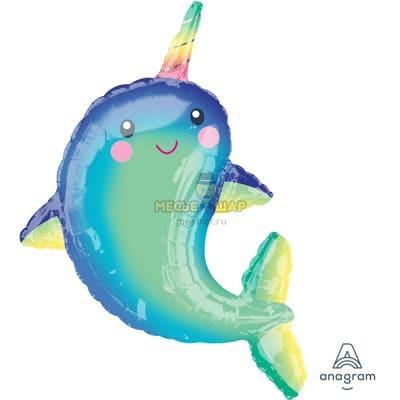 Дельфин с рогом