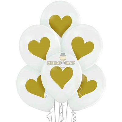 Шары золотые сердца - 65 75 р