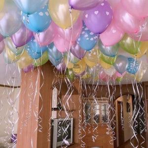 30 нежных шаров Металлик