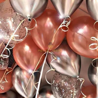 30 шаров - розовое золото