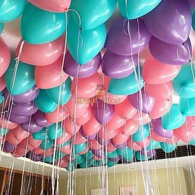 30 шаров - розовый тиффани