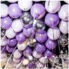 30 шаров сиреневый, фиолетовый, конфетти и серебро