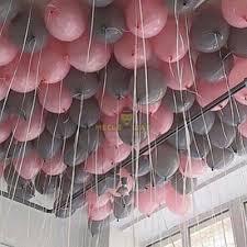 50 шаров розовый серый
