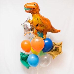 Фонтан с динозавром