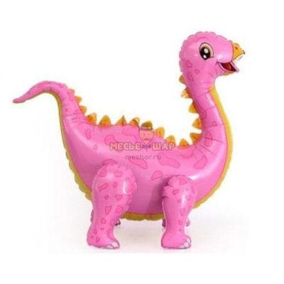 Розовый динозавр ходячка