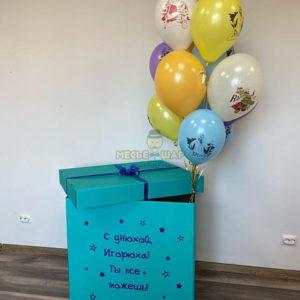 Цветная коробка + 11 шаров