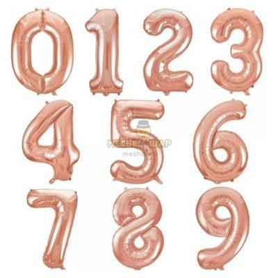 """Шары-цифры """"1-9"""" Пудровые"""