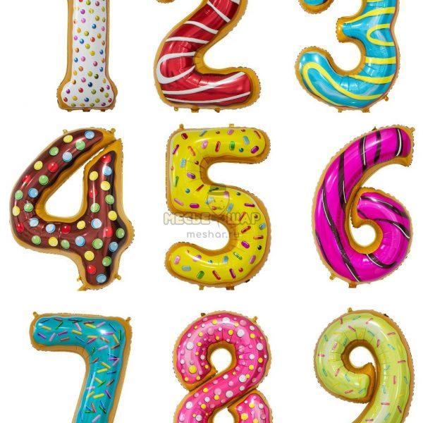 Цифра пончики пирожные