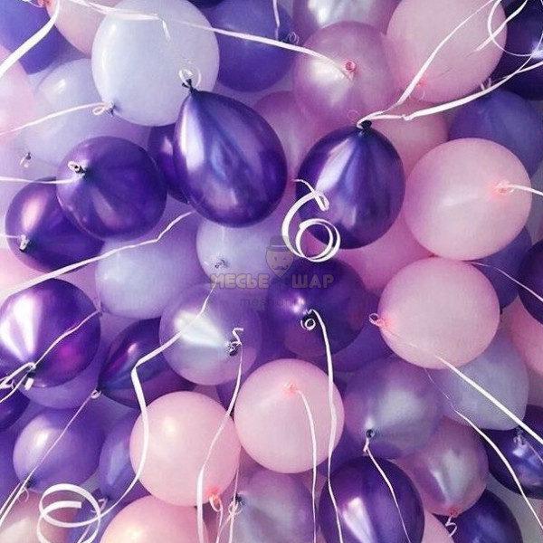 30 Сиренего-розовых шаров