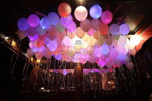 ХИТ - 50 шаров со светодиодами