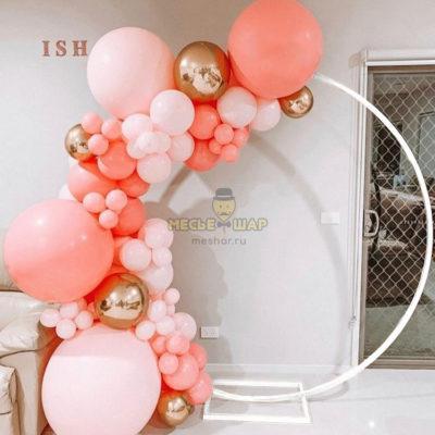 Фотозона из шаров Персиковая