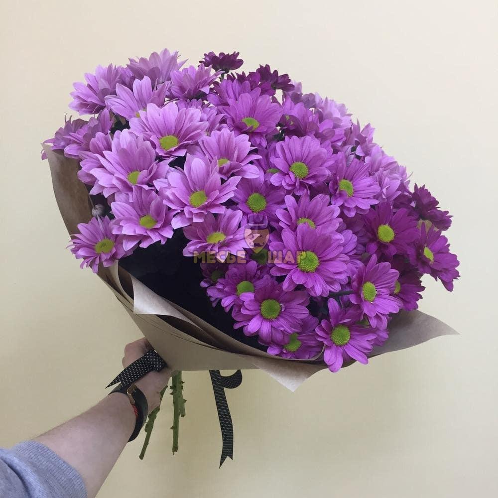 Букет фиолетовых хризантем