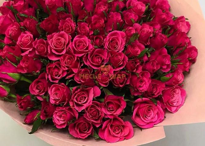 Букет роз Фуксия