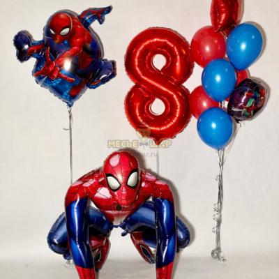 """Набор шаров """"Человек паук на праздник"""""""