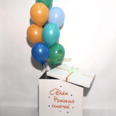 Коробка-сюрприз + 10 шаров