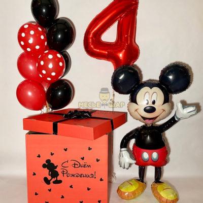 Коробка с шарами и Микки Маус
