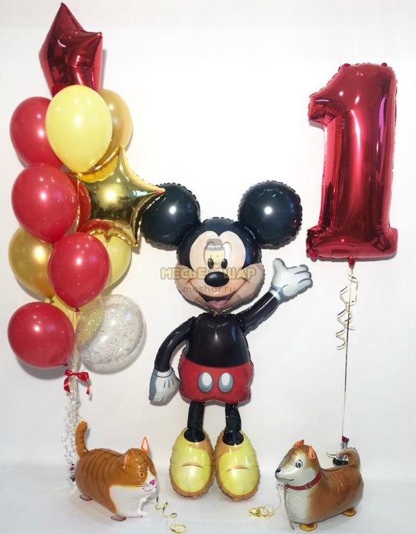 """Набор шаров """"Микки Маус и животные"""""""