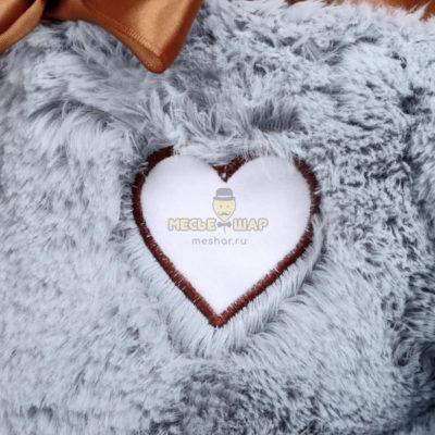 Мягкая игрушка «Медведь Феликс», 90 см, цвет дымчатый