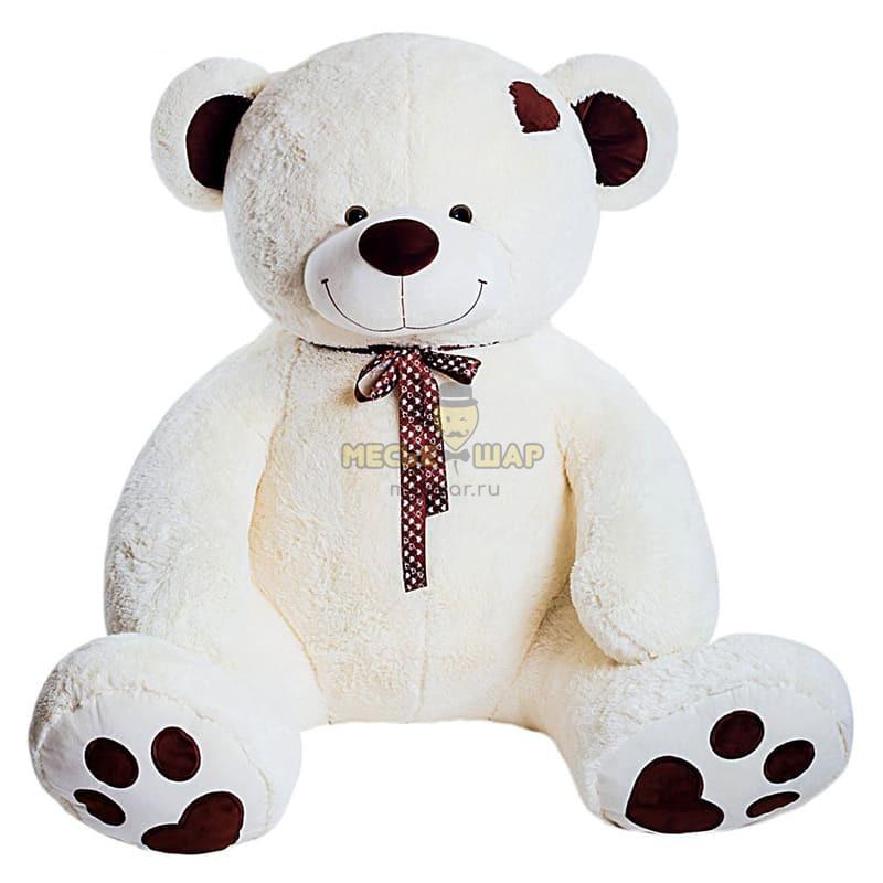 Мягкая игрушка «Медведь Тони» цвет белый, 90 см