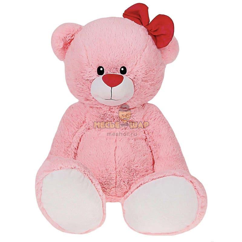 Мягкая игрушка «Мишка Лапа», цвет розовый, 103 см