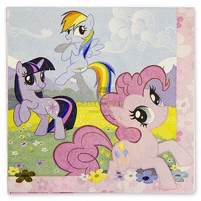 """Салфетка """"My Little Pony"""" 33см 16 шт"""