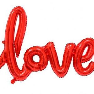 "Шар буквы ""Love Красный"""