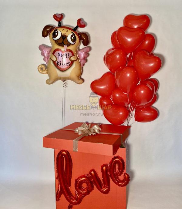 """Коробка-сюрприз """"Влюбленный мопс"""""""