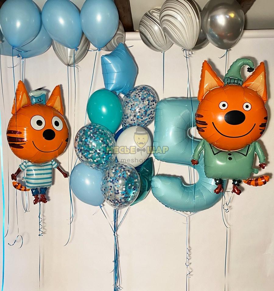 """Набор шаров """"Три кота, компот и Коржик"""""""