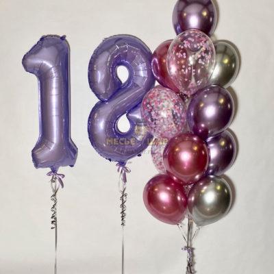 """Набор шаров """"Ура, снова 18"""""""
