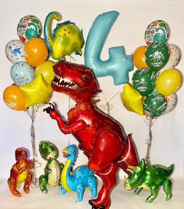 """Набор шаров """"Динозавры в сборе"""""""