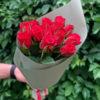 Букет красных роз 15 шт Кения 50 см
