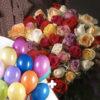 """25 шаров """"Пастель ассорти"""" + 51 розы ассорти"""