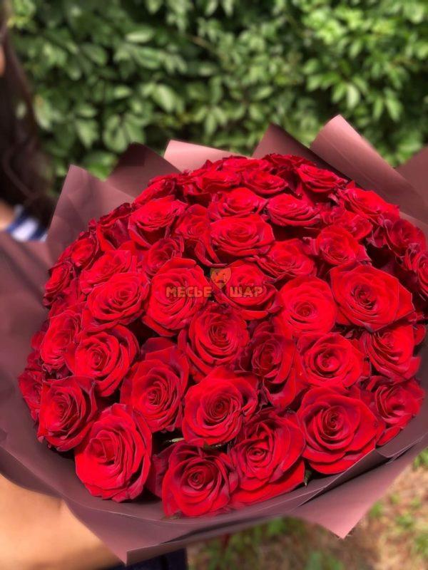 Букет красных роз 51 шт Эквадор