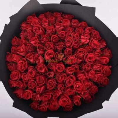 Букет красных роз 101 шт Кения 50 см