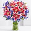 Букет разноцветных лилий