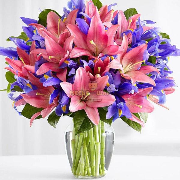 Букет разноцветных лилий №3
