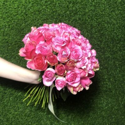 Букет роз 51 шт Розовые Кения 50 см