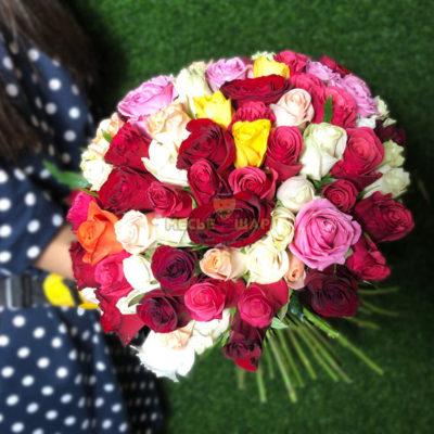 Букет из роз Ассорти 101 шт Кения