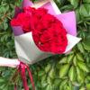 Букет красных роз 25 шт Кения 50 см