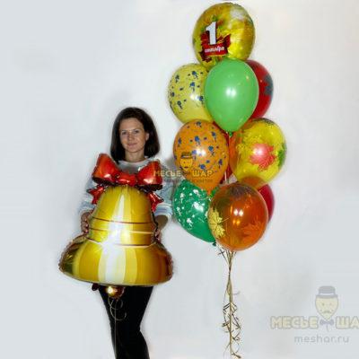 Фонтан из шаров и колокольчик