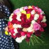 Букет розовых роз 101 шт Кения ассорти