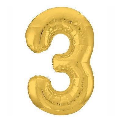 """Шар цифра 3 """"Золото"""""""