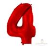 """Шар цифра 4 """"Красная"""""""