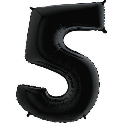 "Шар цифра 5 ""Черные"""