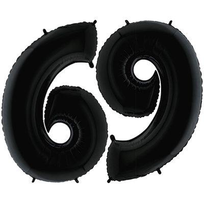 """Шар цифра 6 и 9 """"Черные"""""""